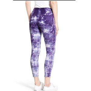HUE Purple Tie Dye Skinny Leggings Sz S